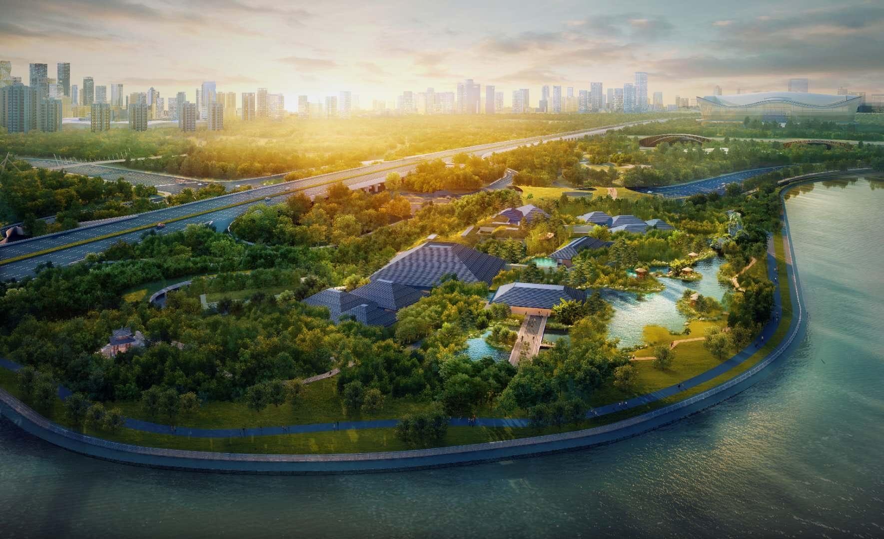这么美的张大千艺术博物馆 想看不?预计明年9月在锦城公园落成