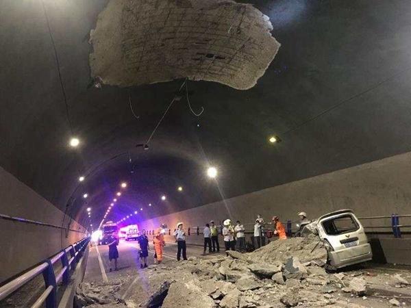 突发!雅安城区青鼻山隧道洞顶局部脱落致一人亡,救援展开