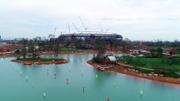 成都东安湖公园提前20天蓄水,最新实景美图来了!